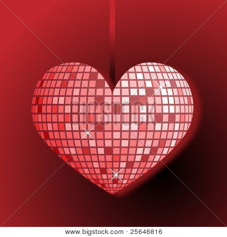 Disco ball heart