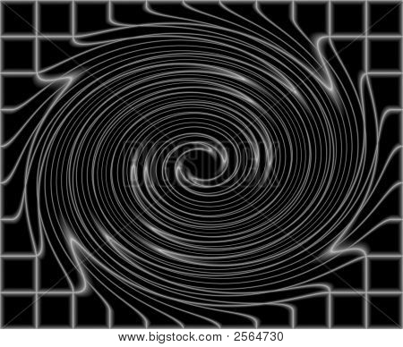 Abstract Black Spiral