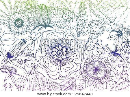 cute flowers drawing