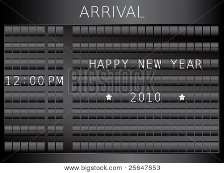 Flip board year 2010. For more cool vectors see my gallery.