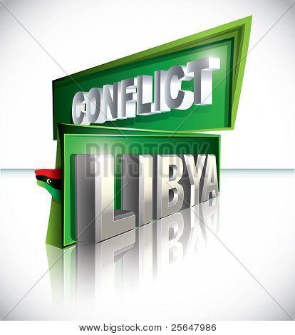 Libyan conflict Vector illustration
