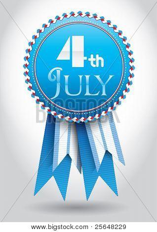 4th July Vector Ribbon