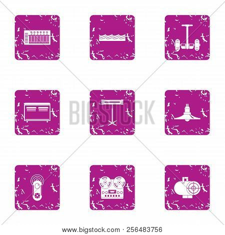 Modern Recreational Icons Set. Grunge Set Of 9 Modern Recreational Vector Icons For Web Isolated On