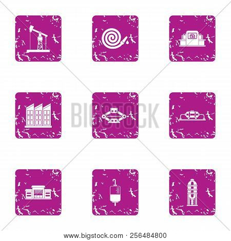 Rescue Assistance Icons Set. Grunge Set Of 9 Rescue Assistance Vector Icons For Web Isolated On Whit