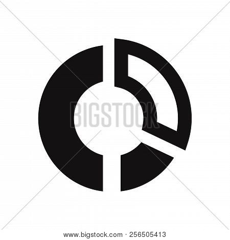 Circular Chart Icon Isolated On White Background. Circular Chart Icon In Trendy Design Style. Circul