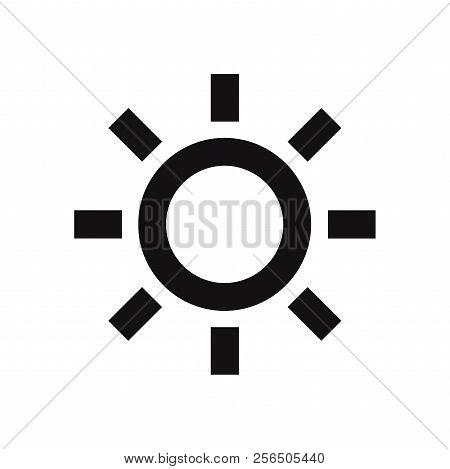 Brightness Icon Isolated On White Background. Brightness Icon In Trendy Design Style. Brightness Vec