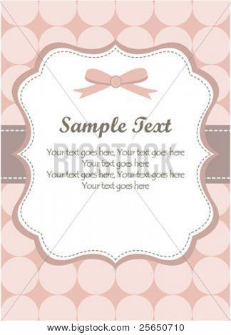 Cute Pink Romantic Invitation