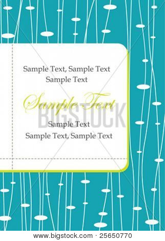 Blue invitation card