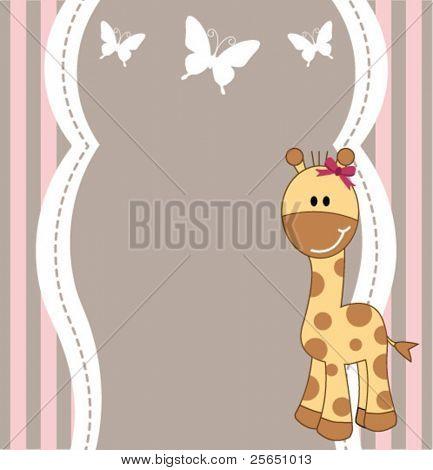 Cute giraffe card