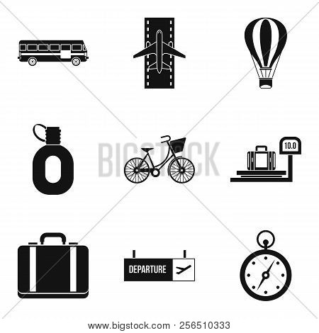 Sightseeing Tour Icons Set. Simple Set Of 9 Sightseeing Tour Icons For Web Isolated On White Backgro