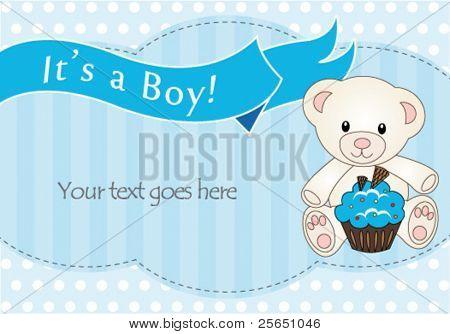 Teddy bear baby boy shower