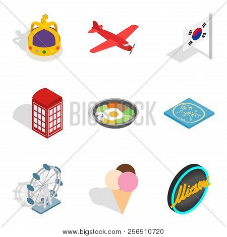 Withdrawal Icons Set. Isometric Set Of 9 Withdrawal Icons For Web Isolated On White Background