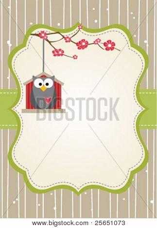 Natural owl card