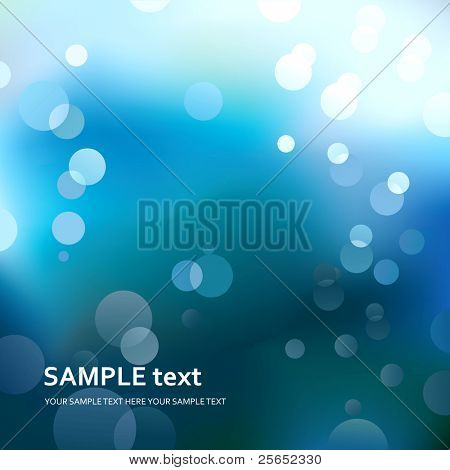Abstract blue light background. Vector.