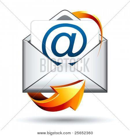 icono de vector de correo e