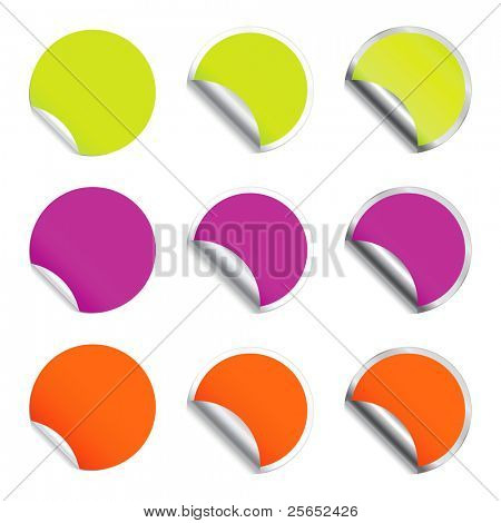 Set vector round stickers