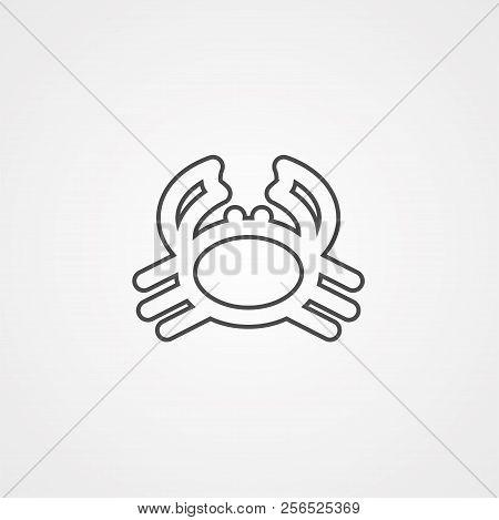 Crab Vector Thin Line Vector Photo Free Trial Bigstock