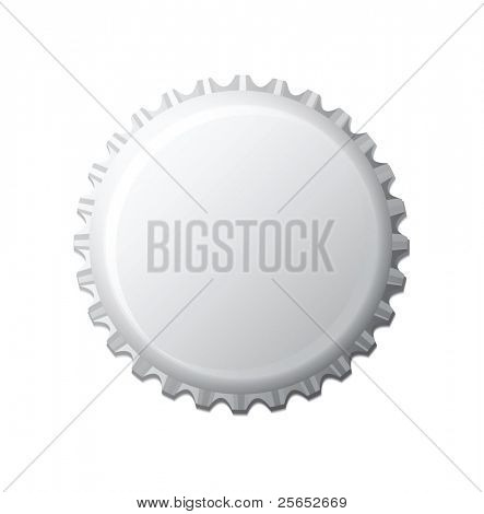 Vector illustration of bottle cap.