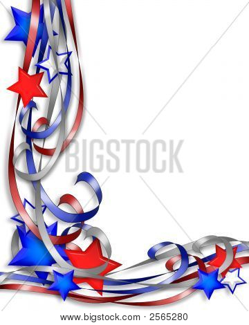 Patriotic Stars And Ribbons 1