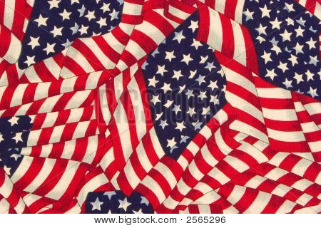 Flag Pattern Closeup