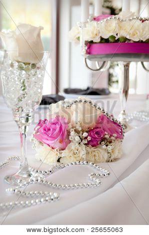 Pink Decoration On Wedding