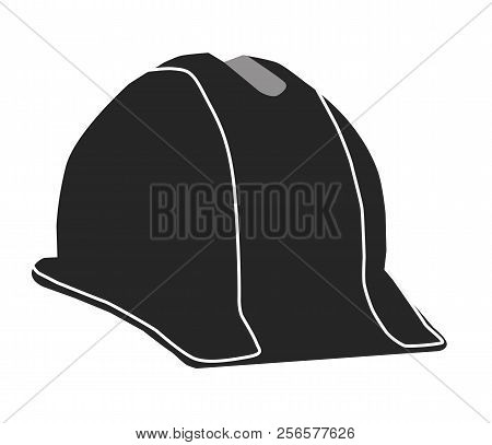 Construction Hard Hat Icon On White Background. Bulider Hard Hat Black Sign. Flat Style. Helmet Icon