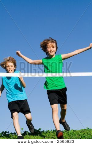 Children Running Sports Race