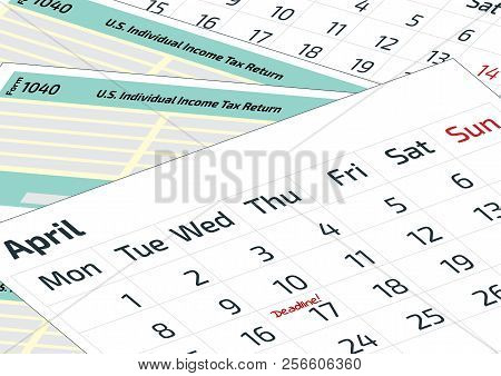 a calendar and 1040 income tax form 2019 2020 tax form 1040 and a