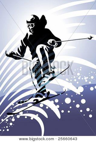 Sport set: Downhill skiing