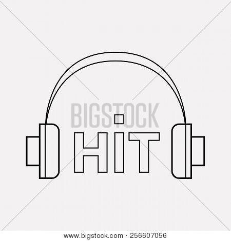Music Hit Icon Line Element.  Illustration Of Music Hit Icon Line Isolated On Clean Background For Y