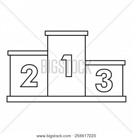 Empty Winners Podium Icon. Outline Illustration Of Empty Winners Podium Icon For Web