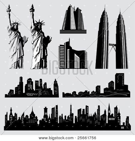 Urban series: editable design elements (15)