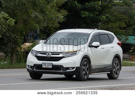 Chiangmai, Thailand - August  3 2018: Private Car Honda Crv City Suv Car. On Road No.1001 8 Km From