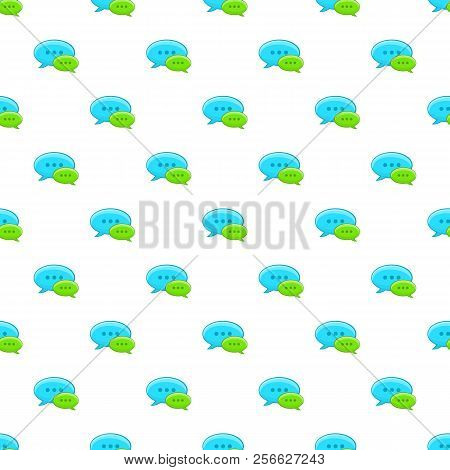 Speech Bubble Conversation Pattern. Cartoon Illustration Of Speech Bubble Conversation Pattern For W