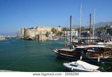 The Harbor Of Keryneia Cyprus