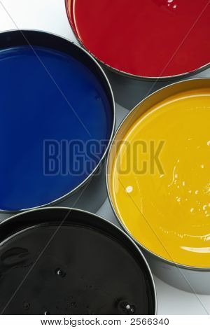 Tubs Of Process Printing Inks