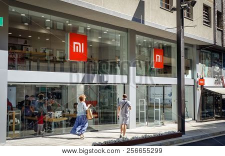 Andorra La Vella, Andorra. September 2018: Xiaomi Mi Flagship Store Opened In August 2018 In This Li