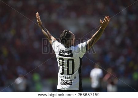 Rio, Brazil - September 02, 2018: Leandro Carvalho Player In Match Between Flamengo 0 And 1 Ceara By