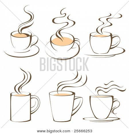 coffee cups set