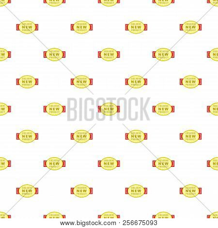 Label Exclusive New Product Pattern. Cartoon Illustration Of Label Exclusive New Product Pattern For