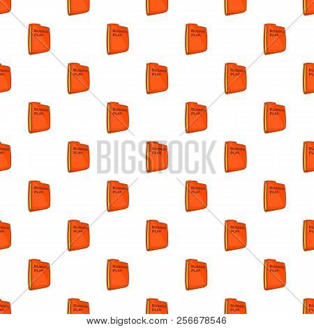 Bisiness Plan Folder Pattern. Cartoon Illustration Of Bisiness Plan Folder Pattern For Web