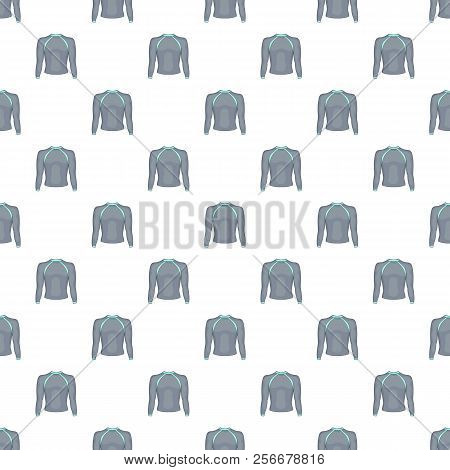 Thermolinen Gray Pullover Pattern. Cartoon Illustration Of Thermolinen Gray Pullover Pattern For Web