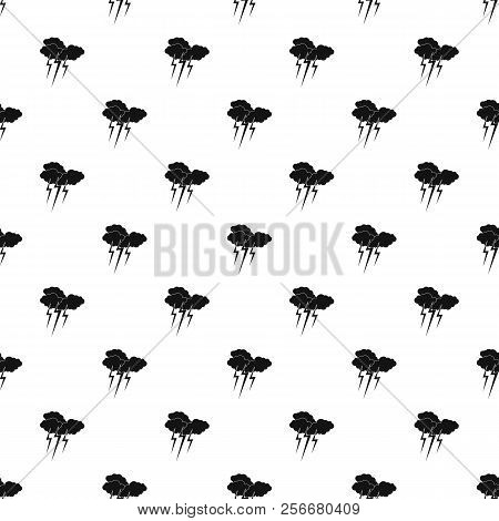 Clouds And Storm Pattern. Simple Illustration Of Clouds And Storm Pattern For Web