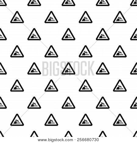 Sign In Front Of Cliff Pattern. Simple Illustration Of Sign In Front Of Cliff Pattern For Web