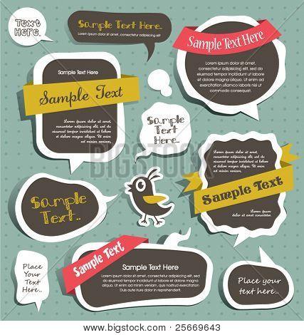 cute scrapbook elements, speech bubbles, text box...