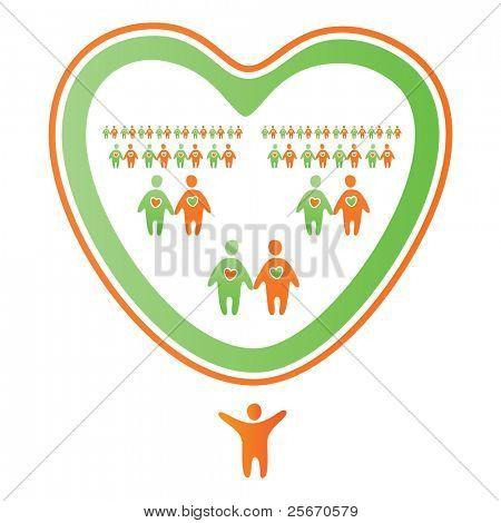 Abstract icon-mark - a family tree