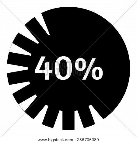 Forty Percent Download Icon. Simple Illustration Of Forty Percent Download Icon For Web