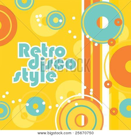 Retro background - a style of disco. Vector illustration for your design.