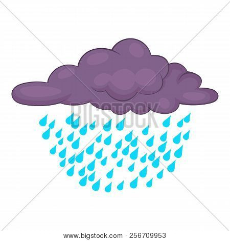 Clouds And Rain Icon. Cartoon Illustration Of Clouds And Rain Icon For Web Design