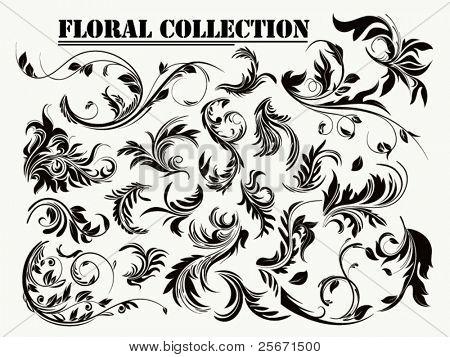 Bloemen versiering, grunge bloeien